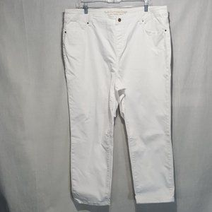 Soft Surroundings Pull-On Crop Jeans XL White